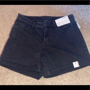 NWT black jean shorts